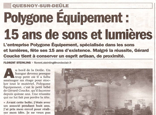 Article Nord Eclair 15 ans